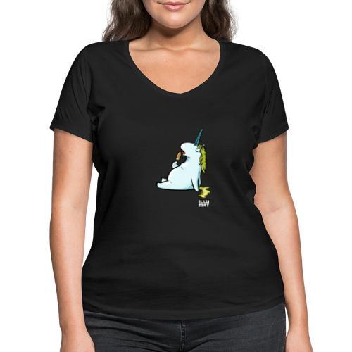 STE 0006 00 Eis Einhorn - Frauen Bio-T-Shirt mit V-Ausschnitt von Stanley & Stella