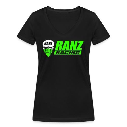 testlogogreengecuttet png - Frauen Bio-T-Shirt mit V-Ausschnitt von Stanley & Stella