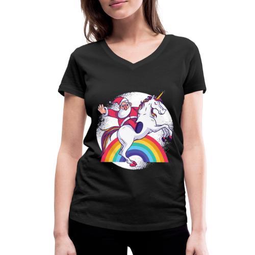 Einhornbogen - MOMO - Frauen Bio-T-Shirt mit V-Ausschnitt von Stanley & Stella