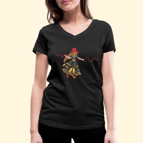 Ladybird - La célèbre uchronaute - T-shirt bio col V Stanley & Stella Femme