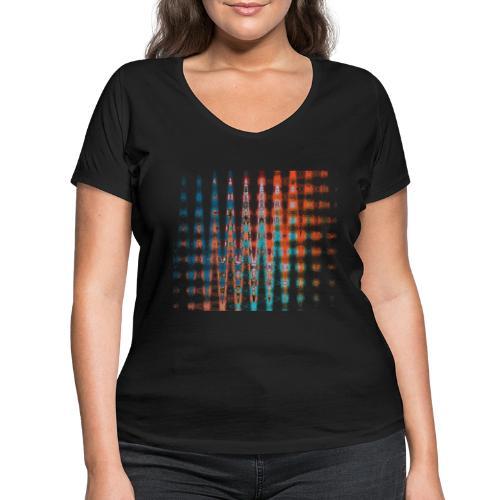 Spacetime by Eve Nord - Frauen Bio-T-Shirt mit V-Ausschnitt von Stanley & Stella