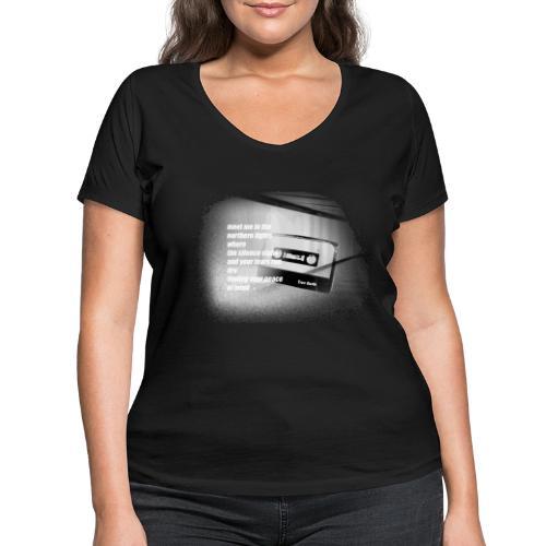 NORTHERN LIGHTS LYRICS PRINT - Frauen Bio-T-Shirt mit V-Ausschnitt von Stanley & Stella