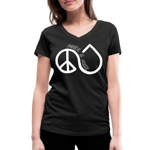 peace and milk nouveau - T-shirt bio col V Stanley & Stella Femme