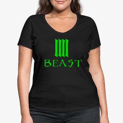 Beast Green - Women's Organic V-Neck T-Shirt by Stanley & Stella