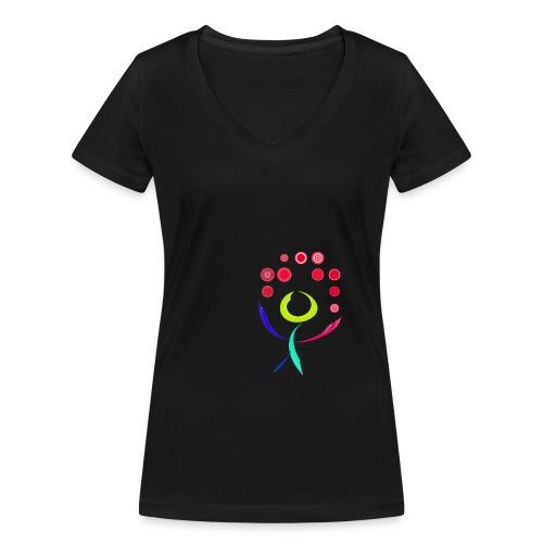 oie transparent 1 - Frauen Bio-T-Shirt mit V-Ausschnitt von Stanley & Stella