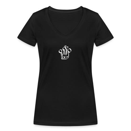 MTeVrede 6 kroon wit2 - Women's Organic V-Neck T-Shirt by Stanley & Stella