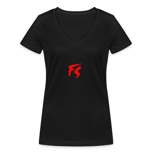 FS Logo rood - Vrouwen bio T-shirt met V-hals van Stanley & Stella