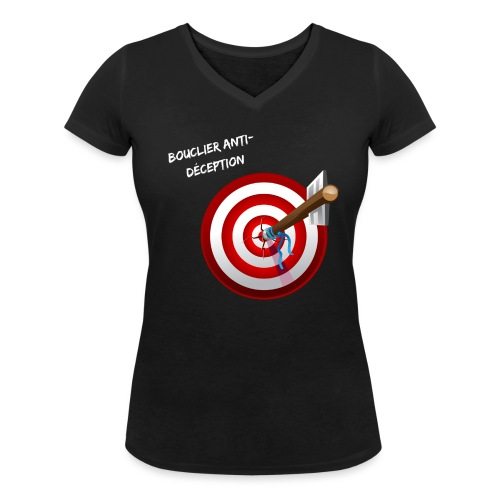 Bouclier anti-déception - T-shirt bio col V Stanley & Stella Femme