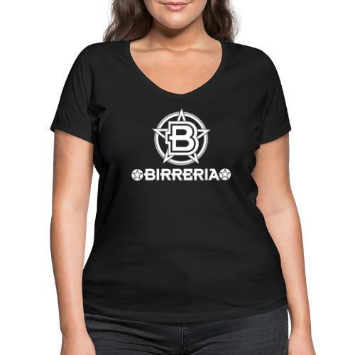 Logo Birreria 2021 white - Frauen Bio-T-Shirt mit V-Ausschnitt von Stanley & Stella