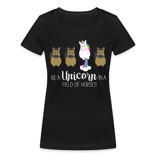 Be the Unicorn - Frauen Bio-T-Shirt mit V-Ausschnitt von Stanley & Stella