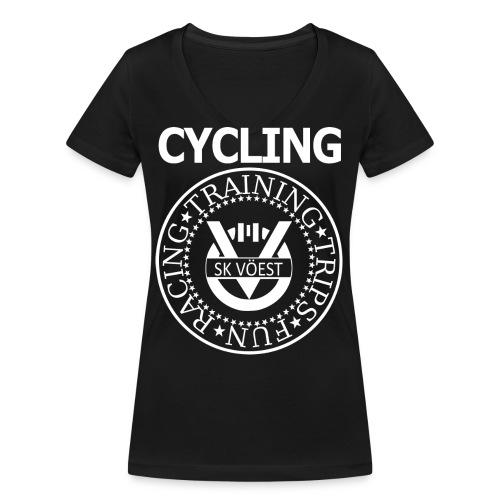 ramonesskv white - Frauen Bio-T-Shirt mit V-Ausschnitt von Stanley & Stella
