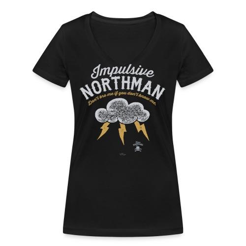 Impulsive Northman - Økologisk Stanley & Stella T-shirt med V-udskæring til damer