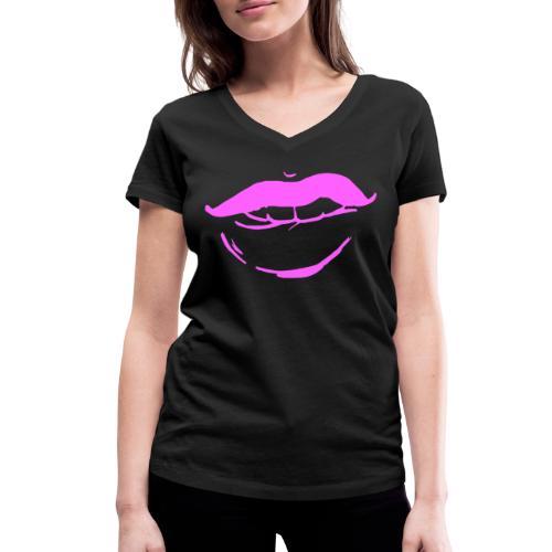 Bouche rose - T-shirt bio col V Stanley & Stella Femme