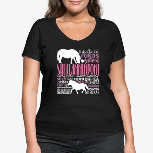Sheltti Sanat Pink - Stanley & Stellan naisten v-aukkoinen luomu-T-paita