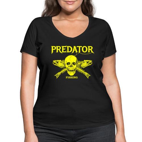 Predator fishing yellow - Frauen Bio-T-Shirt mit V-Ausschnitt von Stanley & Stella