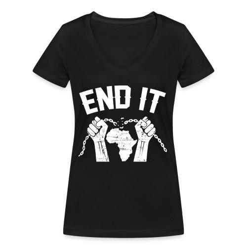BANTU édition - T-shirt bio col V Stanley & Stella Femme