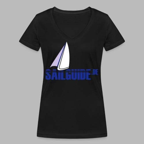 Sailguide - Frauen Bio-T-Shirt mit V-Ausschnitt von Stanley & Stella