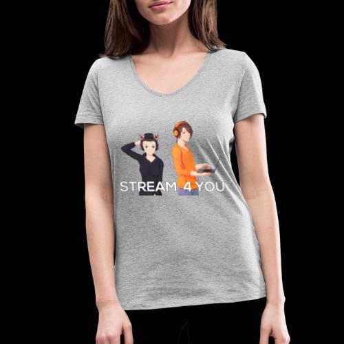 Unsere Logo - Frauen Bio-T-Shirt mit V-Ausschnitt von Stanley & Stella