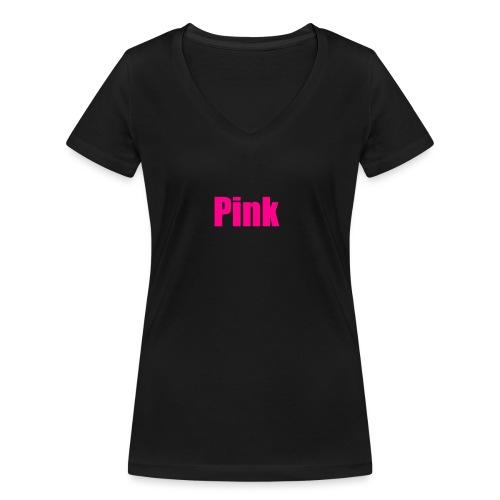 pink - Frauen Bio-T-Shirt mit V-Ausschnitt von Stanley & Stella