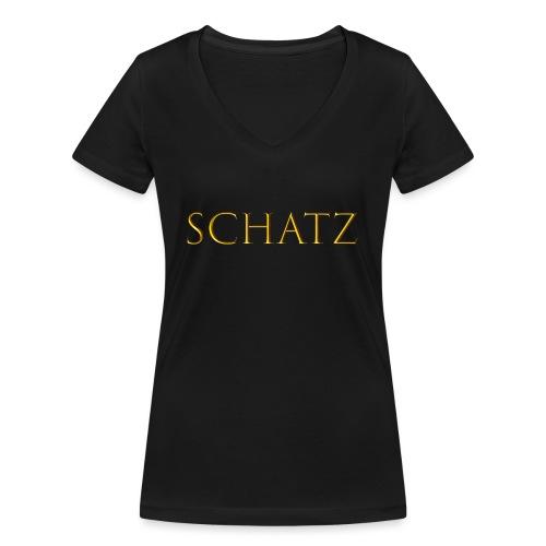 Schatz - Frauen Bio-T-Shirt mit V-Ausschnitt von Stanley & Stella