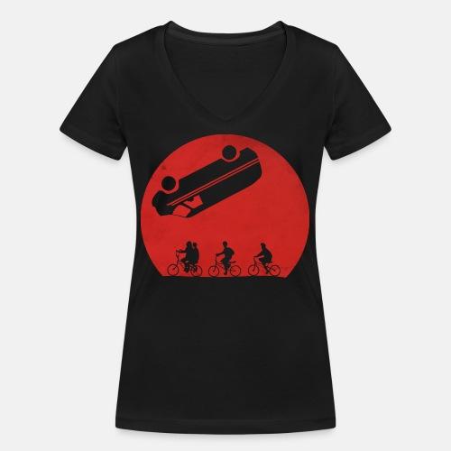 Stranger Things Eleven 80's Design - Women's Organic V-Neck T-Shirt by Stanley & Stella