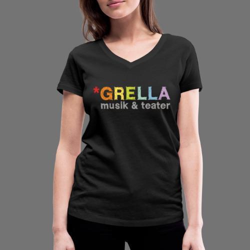 Grella musik & teater logotyp i färg - Ekologisk T-shirt med V-ringning dam från Stanley & Stella