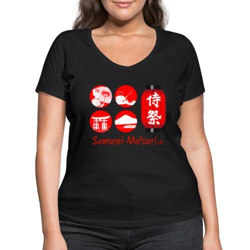 Samurai Matsuri Festival - Frauen Bio-T-Shirt mit V-Ausschnitt von Stanley & Stella