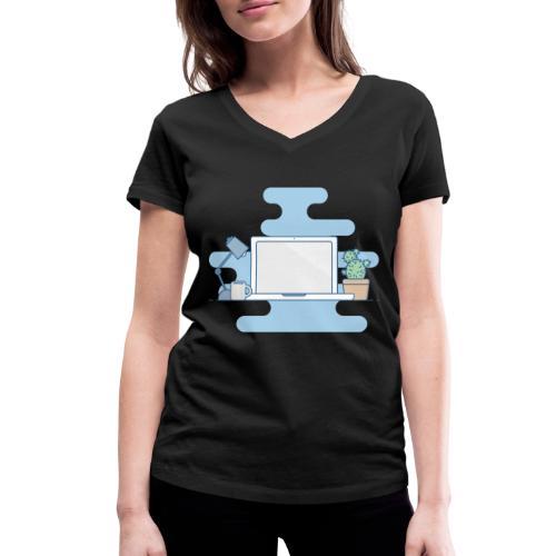 Arbeitstisch - Frauen Bio-T-Shirt mit V-Ausschnitt von Stanley & Stella