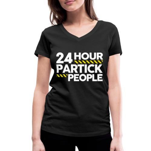 24 Hour Partick People - Women's Organic V-Neck T-Shirt by Stanley & Stella
