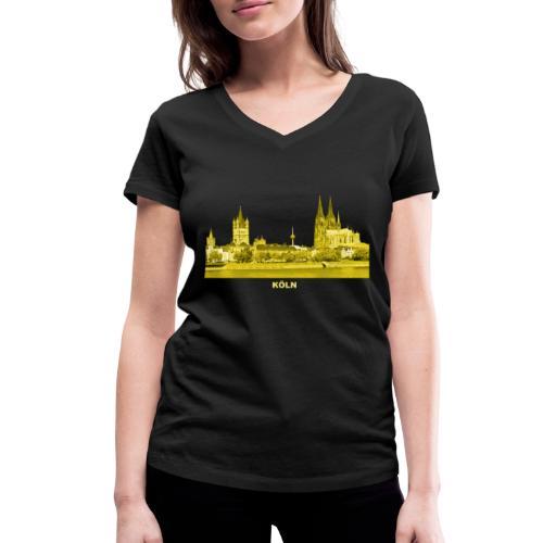 Köln Dom Rhein Nordrhein-Westfalen Deutschland - Frauen Bio-T-Shirt mit V-Ausschnitt von Stanley & Stella