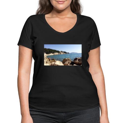 Corniche - T-shirt bio col V Stanley & Stella Femme