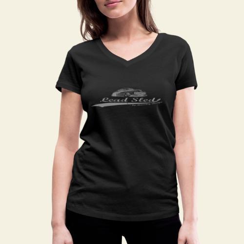 lead sled grey - Økologisk Stanley & Stella T-shirt med V-udskæring til damer