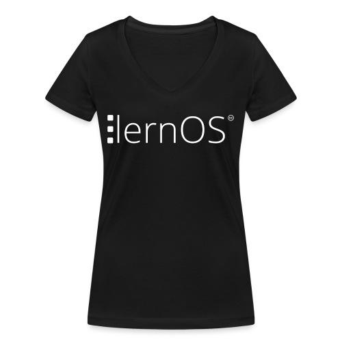 lernOS - Frauen Bio-T-Shirt mit V-Ausschnitt von Stanley & Stella