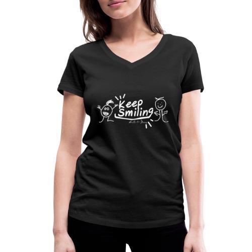 Keep Smile Kalle&Jimmy - Frauen Bio-T-Shirt mit V-Ausschnitt von Stanley & Stella