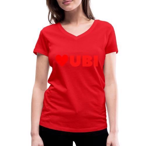 love ubi red trans - Vrouwen bio T-shirt met V-hals van Stanley & Stella