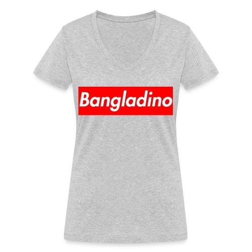 Bangladino - T-shirt ecologica da donna con scollo a V di Stanley & Stella