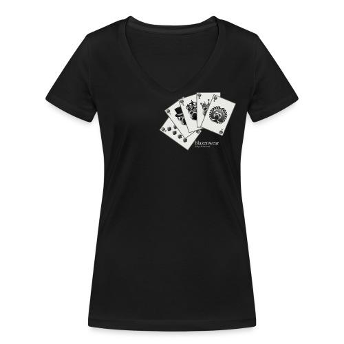 Blazenwear Royal Flush - Frauen Bio-T-Shirt mit V-Ausschnitt von Stanley & Stella