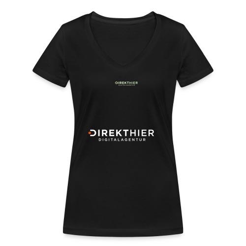 DIREKTHIER Logo - Frauen Bio-T-Shirt mit V-Ausschnitt von Stanley & Stella