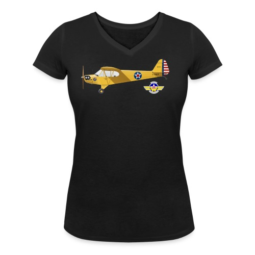 Piper Cub Spirit of Lewis - T-shirt bio col V Stanley & Stella Femme