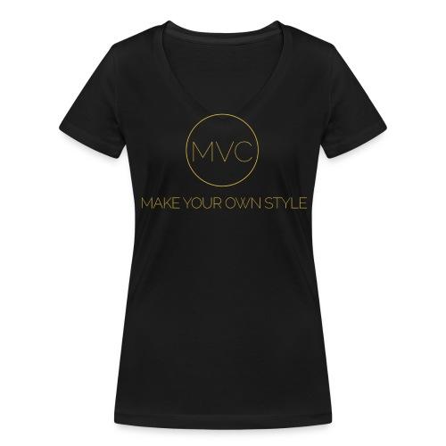 Text O Matic 2016 4 27 19 35 33 High 2 png - Vrouwen bio T-shirt met V-hals van Stanley & Stella