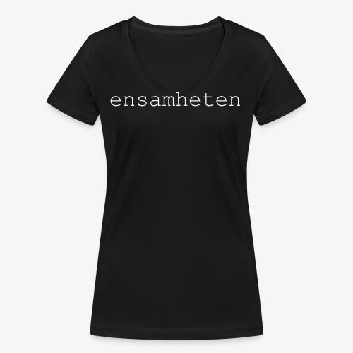 Textlogo-Vit - Ekologisk T-shirt med V-ringning dam från Stanley & Stella