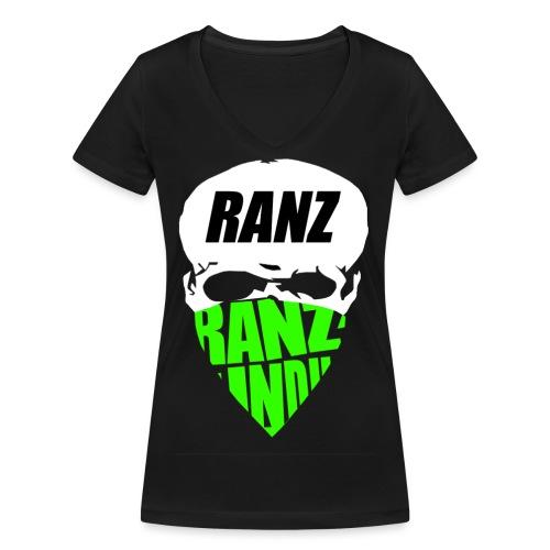 rantkopfausgeschnitten png - Frauen Bio-T-Shirt mit V-Ausschnitt von Stanley & Stella