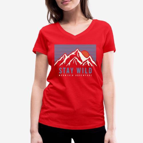 Berg bleiben wild - Frauen Bio-T-Shirt mit V-Ausschnitt von Stanley & Stella