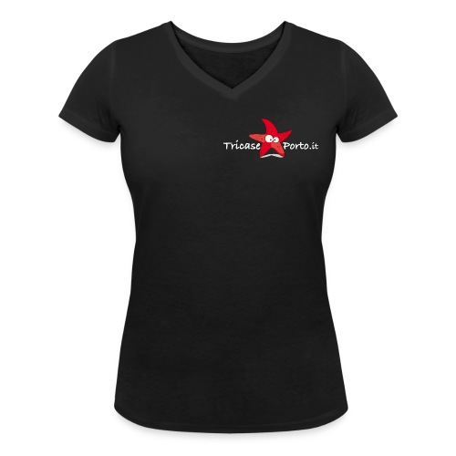 StarfishNew white - T-shirt ecologica da donna con scollo a V di Stanley & Stella