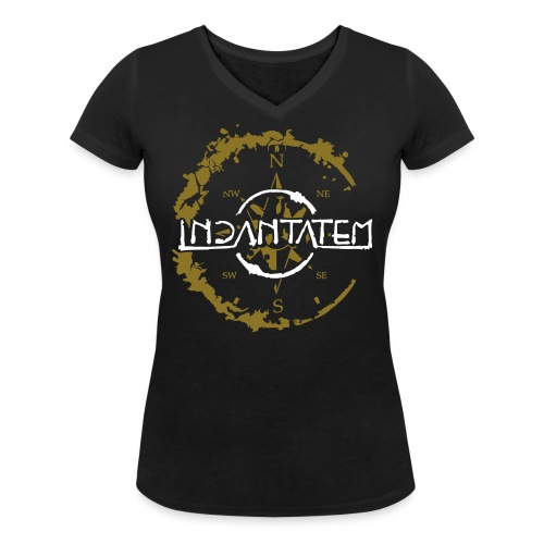 Incantatem Kompaß Shirt - Frauen Bio-T-Shirt mit V-Ausschnitt von Stanley & Stella