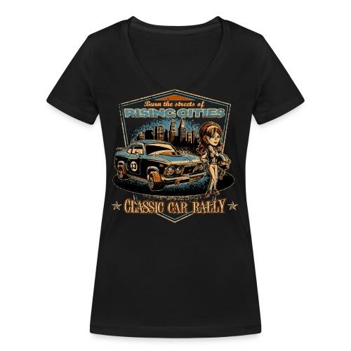 risingcities classiccarrally - Frauen Bio-T-Shirt mit V-Ausschnitt von Stanley & Stella