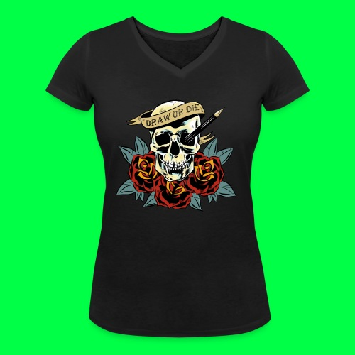 draw or die - T-shirt bio col V Stanley & Stella Femme