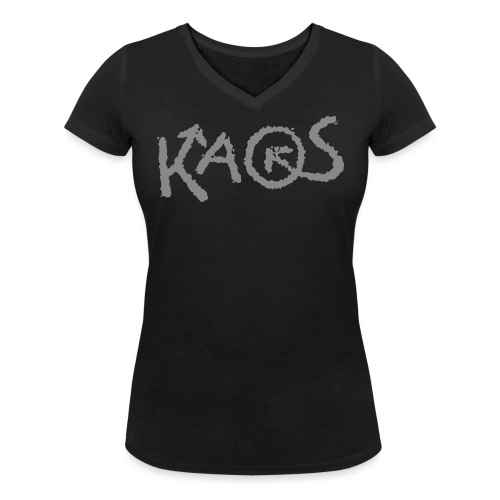 kaoslogo til tshirt - Økologisk T-skjorte med V-hals for kvinner fra Stanley & Stella