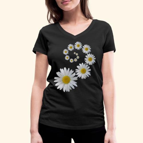 Margeriten Blume, Blumen, Blüte, floral, blumig - Frauen Bio-T-Shirt mit V-Ausschnitt von Stanley & Stella