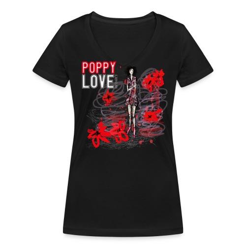 POPPY LOVE - Frauen Bio-T-Shirt mit V-Ausschnitt von Stanley & Stella